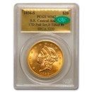 1856-S $20 Lib Gold SS Central America MS-62 PCGS CAC (SSCA 5233)