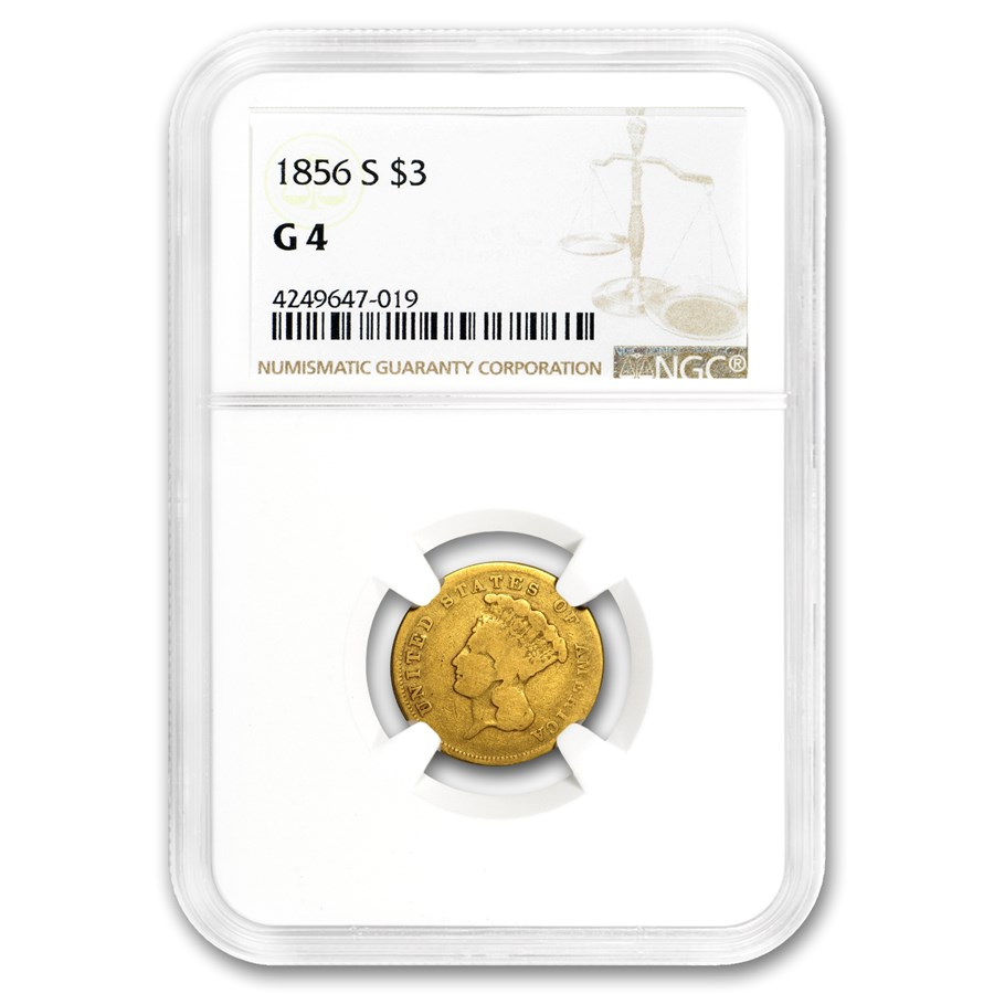 1856-S Gold $3 Princess Good-4 NGC