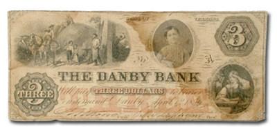 1856 The Danby Bank, Danby, VT $3.00 Note VT-80 Fine
