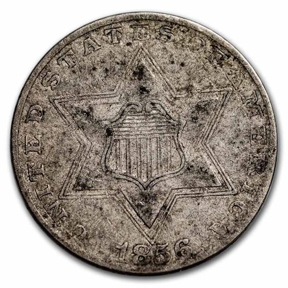 1856 Three Cent Silver Fine