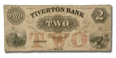 1856 Tiverton Bank, Tiverton, RI $2 RI-505 Fine