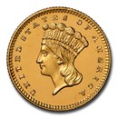 1857 $1 Indian Head Gold PF-66 Cameo NGC