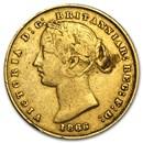 1857-1870 Australia Gold Sovereign Victoria Sydney Mint Avg Circ