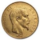 1857-A France Gold 50 Francs Napoleon III AU