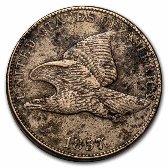 1857 Flying Eagle Cent XF Details