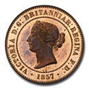 1857 Great Britain AE Pattern Ten Cents PR-65 PCGS (Red/Brown)