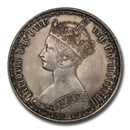 1857 Great Britain Silver Gothic Florin Victoria MS-63 PCGS