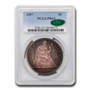 1857 Liberty Seated Dollar PR-65 PCGS CAC