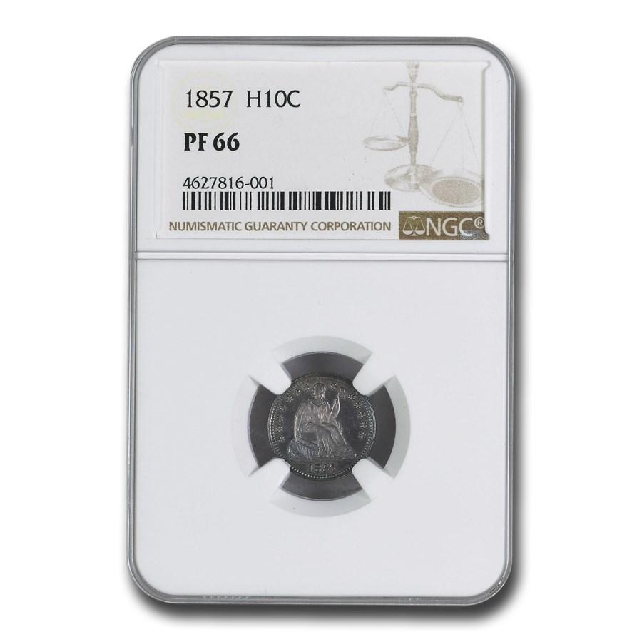 1857 Liberty Seated Half Dime PF-66 NGC