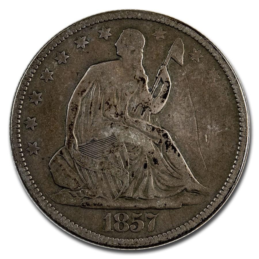 1857 Liberty Seated Half Dollar Fine