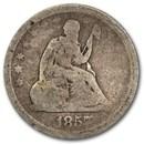 1857 Liberty Seated Quarter Good