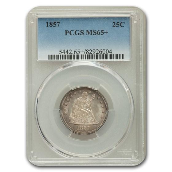 1857 Liberty Seated Quarter MS-65+ PCGS