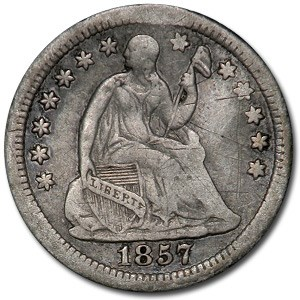 1857-O Liberty Seated Half Dime XF (Details)