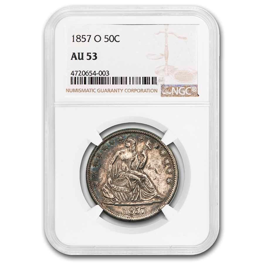 1857-O Liberty Seated Half Dollar AU-53 NGC