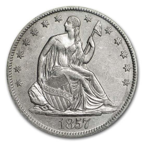 1857-O Liberty Seated Half NGC (SS-Republic, Book display)