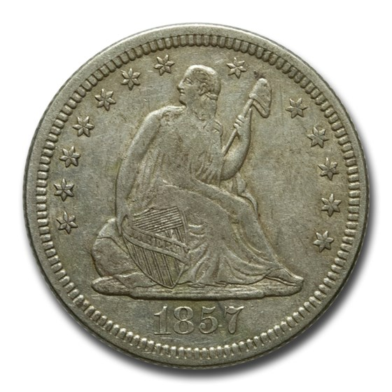 1857-O Liberty Seated Quarter XF