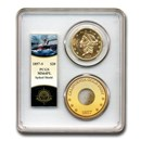 1857-S $20 Liberty Gold Double Eagle MS-64 PCGS (PL Spike Shield)