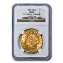 1857-S $20 Liberty Gold Double Eagle MS-65 NGC (Central America)