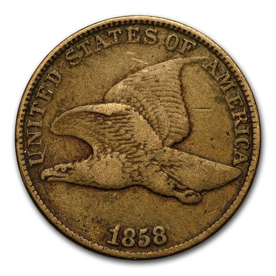 1858 Flying Eagle Cent Large Letters Fine