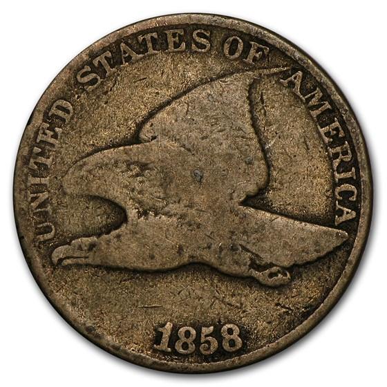 1858 Flying Eagle Cent Large Letters Good