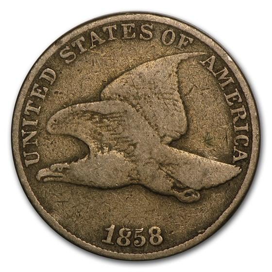 1858 Flying Eagle Cent Large Letters VG