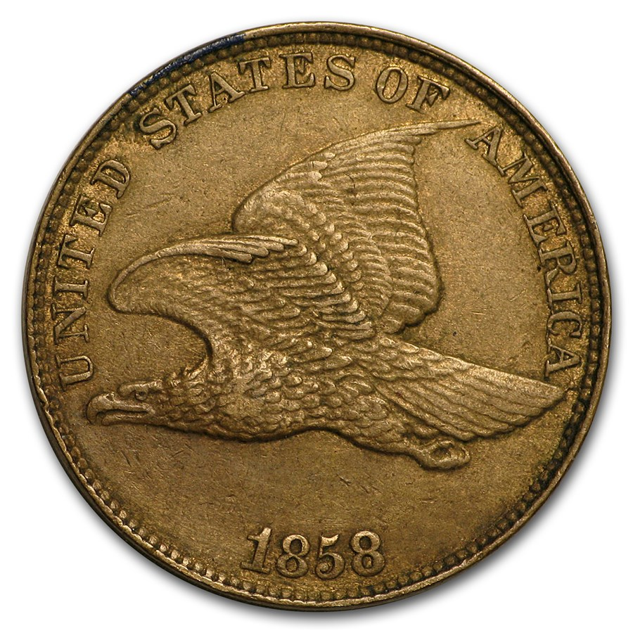 1858 Flying Eagle Cent Large Letters XF
