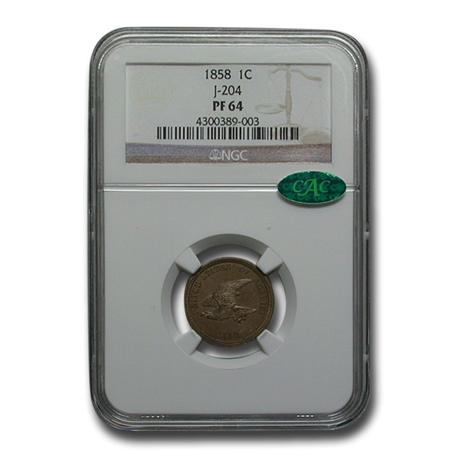 1858 Flying Eagle Cent Pattern PF-64 NGC CAC (J-204)