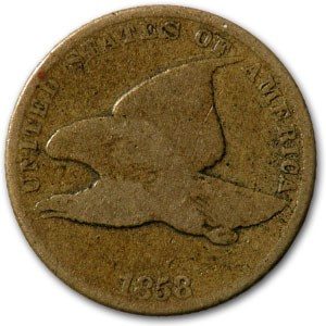1858 Flying Eagle Cent Small Letters Good