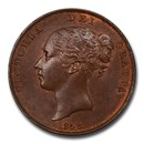1858 Great Britain Copper Penny Victoria MS-63 PCGS (Brown)