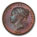1858 Great Britain Copper Penny Victoria MS-65 PCGS (Brown)