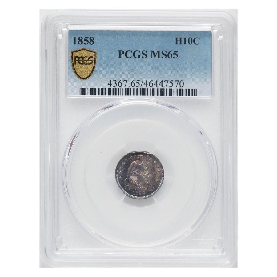 1858 Liberty Seated Half Dime MS-65 PCGS