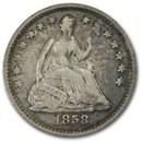 1858 Liberty Seated Half Dime VF