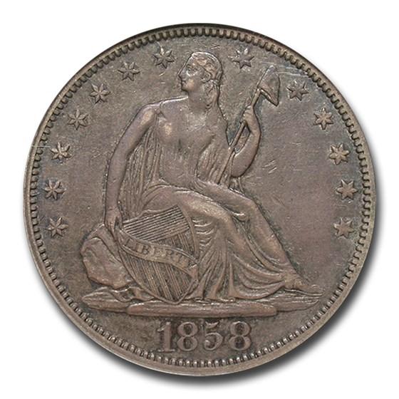 1858 Liberty Seated Half Dollar XF-45 NGC