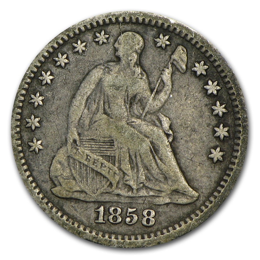1858-O Liberty Seated Half Dime VF