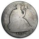 1858-O Liberty Seated Half Dollar AG