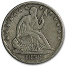 1858-O Liberty Seated Half Dollar VF