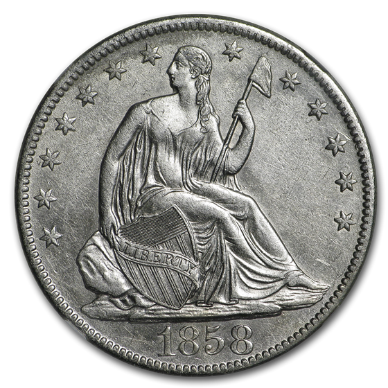 1858-O Liberty Seated Half NGC (SS-Republic Shipwreck)