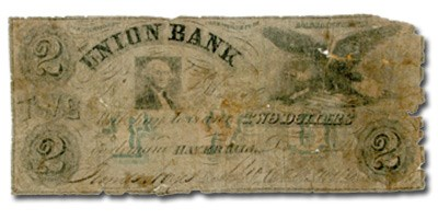 1859 $2 The Union Bank of Haverhill MA-680 Good COUNTERFEIT