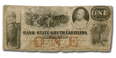 1859 Bank of State of SC @ Charleston, SC $1.00 SC-45 VG