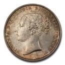 1859 Great Britain Silver Shilling Queen Victoria MS-64 PCGS
