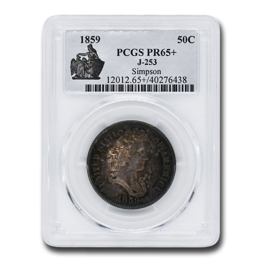 1859 Half Dollar Pattern PR-65+ PCGS (J-253)