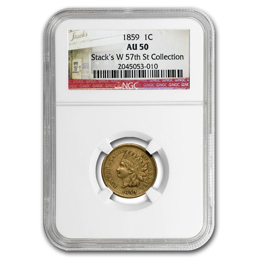 1859 Indian Head Cent AU-50 NGC
