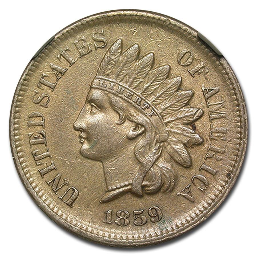 1859 Indian Head Cent AU-53 NGC