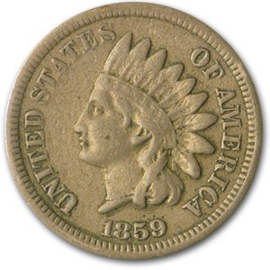 1859 Indian Head Cent Fine