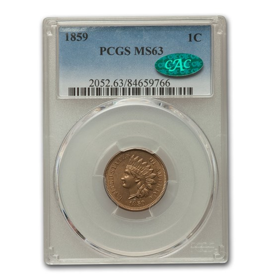 1859 Indian Head Cent MS-63 PCGS CAC