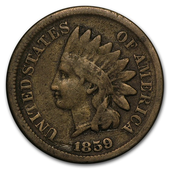 1859 Indian Head Cent VG