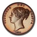 1859 Isle of Man Penny PR-63 PCGS (Brown)
