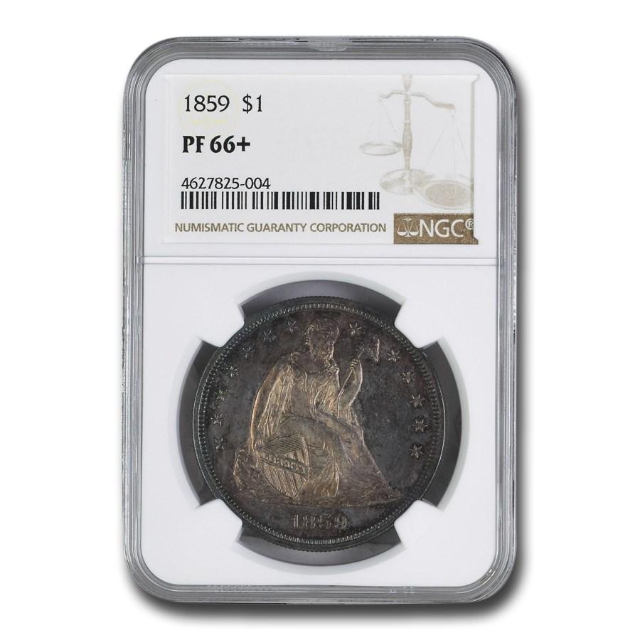 1859 Liberty Seated Dollar PF-66+ NGC