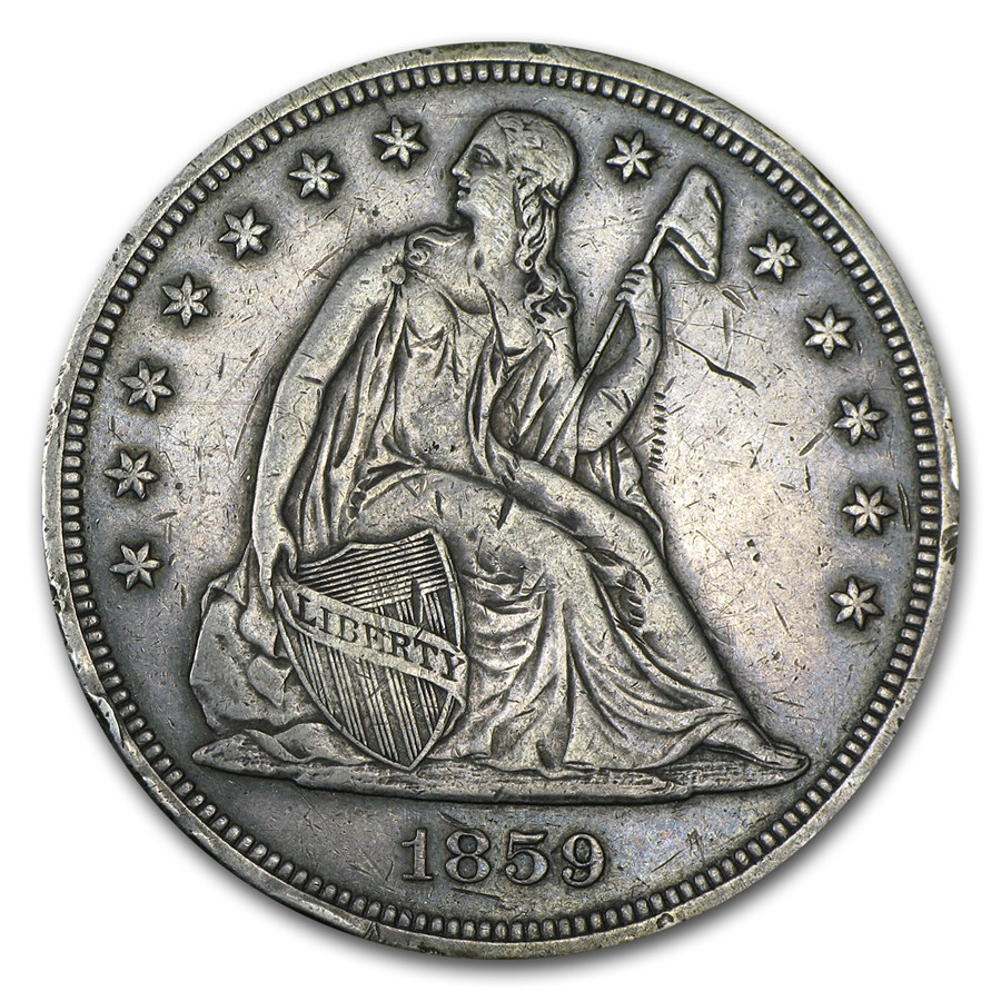 1859 Liberty Seated Dollar XF