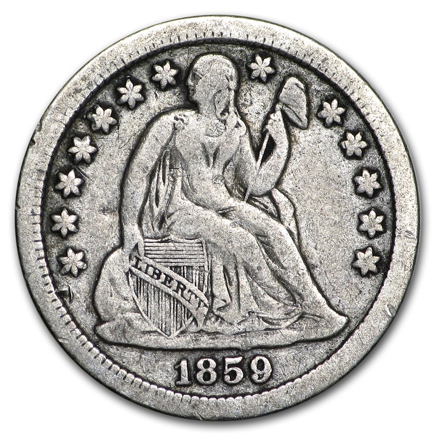 1859 Liberty Seated Half Dime VF